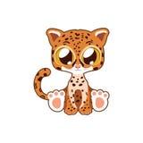 Śliczna Jaguar Wektorowa Ilustracyjna sztuka Obrazy Royalty Free