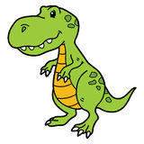 Śliczna kreskówka Dino Zdjęcia Stock