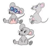 Śliczna kreskówki mysz. wektorowa ilustracja Obrazy Stock