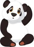 śliczna kreskówki panda Fotografia Royalty Free