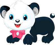 śliczna kreskówki panda Zdjęcia Stock