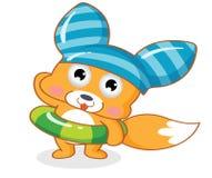 śliczna kreskówki wiewiórka Obrazy Royalty Free