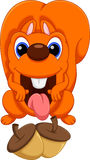 śliczna kreskówki wiewiórka Obraz Stock