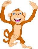 śliczna kreskówki małpa Obrazy Stock