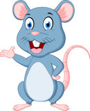 śliczna kreskówki mysz Obraz Stock