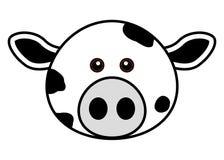 śliczna krowy twarz Zdjęcia Royalty Free