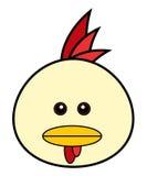 śliczna kurczak twarz Fotografia Stock