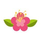 Śliczna kwiat natury ikona Zdjęcie Royalty Free