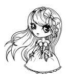 Śliczna lali dziewczyna obraz stock