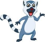Śliczna lemur kreskówka Zdjęcia Royalty Free