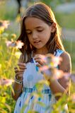 śliczna ogrodowa dziewczyna fotografia stock