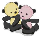 śliczna panda dwa Zdjęcia Stock