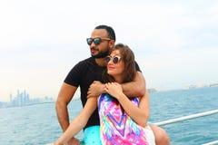 Śliczna para przy Dubaj Obraz Royalty Free