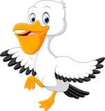 Śliczna pelikan kreskówka Zdjęcie Stock