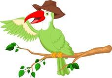 Śliczna pieprzojada ptaka kreskówka Fotografia Royalty Free