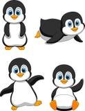Śliczna pingwin kreskówka ilustracja wektor