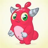 Śliczna potwór kreskówka Wektorowa maskotka Zdjęcie Royalty Free