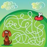 Śliczna psa labiryntu gra ilustracja wektor