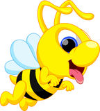 Śliczna pszczoły kreskówka Zdjęcie Stock