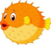 Śliczna puffer ryba kreskówka Obrazy Royalty Free