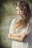 Śliczna retro kobieta Obraz Stock
