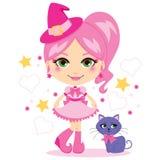 śliczna różowa czarownica Obraz Royalty Free