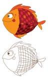 Śliczna ryba w kolorze i konturze Obraz Royalty Free