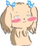 Śliczna szczeniaka psa grzebaka twarzy ikona Zdjęcia Royalty Free