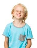 Śliczna szczęśliwa młoda chłopiec Obrazy Royalty Free