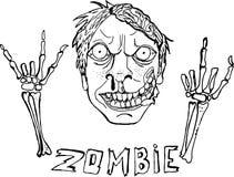 Śliczna wektorowa ilustracja zombie ilustracja wektor