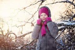 Śliczna zimy dziecka dziewczyna Obraz Stock