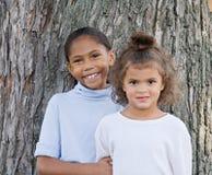 śliczne dziewczyny dwa Obrazy Royalty Free