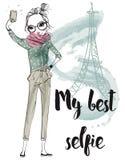 Śliczne kreskówek dziewczyny Fotografia Stock