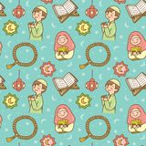 ?licznego Ramadan doodle bezszwowy wz?r ilustracji