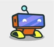Ślicznego robota animowany charakter dla projekta royalty ilustracja