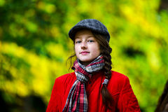 Ślicznej nastoletniej dziewczyny jesienny portret Zdjęcie Stock
