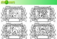 Śliczni dinosaury, set wektorowi wizerunki Obraz Royalty Free