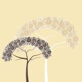 Śliczni drzewa Fotografia Stock