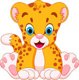 Śliczni gepardów dzieci ilustracja wektor
