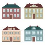 Śliczni kreskówka domy Zdjęcie Stock