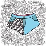 Śliczni kreskówki doodle modnisia skróty. Zdjęcia Royalty Free