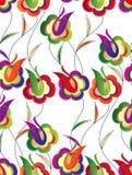 Śliczni kwiaty bezszwowa tapeta Obrazy Stock