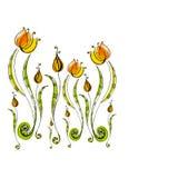 śliczni kwiaty ilustrowali Zdjęcie Stock