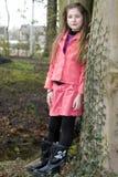 śliczni mody dziewczyny parka potomstwa Zdjęcie Stock