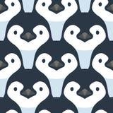 Śliczni pingwinów dzieci wektor bezszwowy wzoru Fotografia Royalty Free