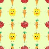 śliczni warzywa Ilustracji