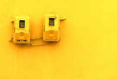 liczniki elektryczne Obrazy Stock