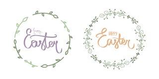 ?liczny b??kitny szcz??liwy Easter dnia literowanie Kaligrafii poczt?wka lub plakatowy graficznego projekta literowania element R ilustracji