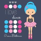Śliczny baleriny dziewczyny wektor Zdjęcia Stock
