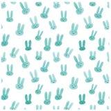 Śliczny bezszwowy wzór z akwarela królikami Obrazy Stock